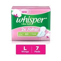 Whisper Sanitary Pads Ultra Soft Large